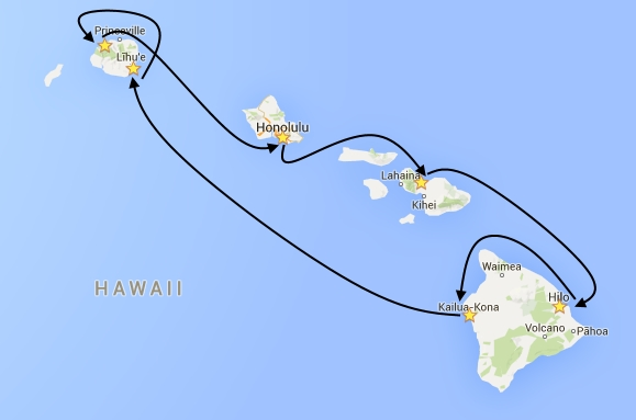 Cruise Hawaii Map