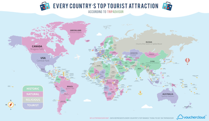 TRAVEL Top Tourist Attractions Language on Vacation – East Coast Tourist Attractions Map